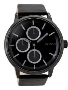 Oozoo C9429 Herrenuhr im Chrono-Look Schwarz 49 mm