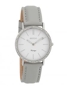 Oozoo C9321 Damen-Armbanduhr Vintage Silberfarben/Grau/Weiß 32 mm