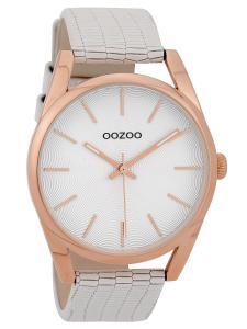 Oozoo C9581 Armbanduhr mit Lederband Weiß 42 mm