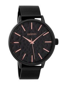 Oozoo C9574 Damenuhr mit Milanaiseband Schwarz 42 mm