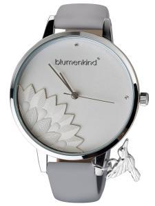 Blumenkind 13121989SWHPGR Damenarmbanduhr Pennsylvania Silber/Kaschmirgrau
