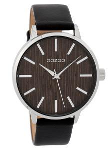 Oozoo C9254 Damenuhr Holz-Zifferblatt Schwarz/Nuss XL 42 mm