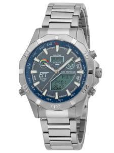 ETT Eco Tech Time EGT-11355-50M Solar Drive Herren-Funkuhr Chronograph