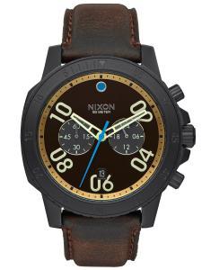 Nixon A940 2209 Ranger Chrono Leather Black Herrenuhr