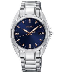 Seiko SKK889P1 Damen-Armbanduhr mit 7 Diamanten