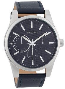 Oozoo C9618 Herrenuhr 45 mm Lederband Blau