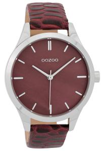 Oozoo C9722 Damenuhr mit Lederband Weinrot 42 mm