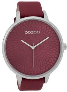 Oozoo C9727 Damenuhr mit Design-Zifferblatt Weinrot 48 mm