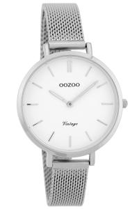 Oozoo C9820 Damenuhr Vintage Weiß 34 mm mit Milanaisearmband