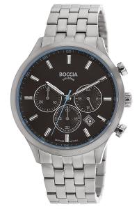 boccia 3750-04 Titan-Herrenarmbanduhr Chronograph mit Saphirglas