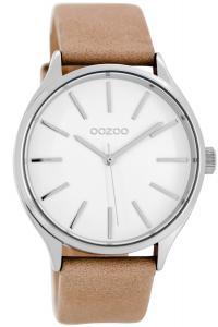 Oozoo C8626 Damenuhr mit Lederband Camel/Weiß 40 mm
