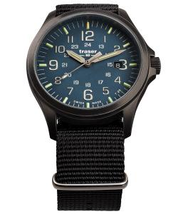 Traser H3 108632 Herren-Armbanduhr P67 Officer Pro Gunmetal/Blau