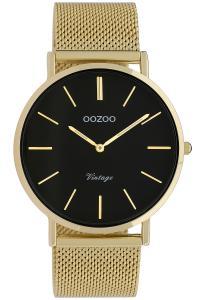 Oozoo C9913 Damenuhr Vintage Goldfarben/Schwarz 40 mm