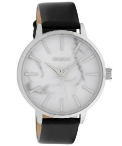 Oozoo C9757 Damenuhr Schwarz/Marmoroptik Weiß 42 mm