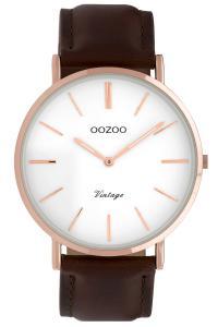 Oozoo C9832 Damenuhr Vintage Braun/Weiß 40 mm