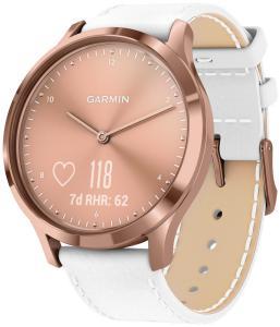 Guess Garmin 010-01850-AB vivomove HR Premium Fitness-Tracker Smartwatch Rosé/Weiß