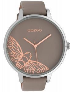 Oozoo C10077 Damenarmbanduhr Libelle Taupe 48 mm