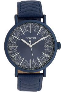 Oozoo C10147 Damenuhr mit Lederband Blau 42 mm