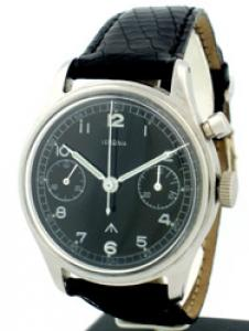 Lemania Military WWII One Button Chronograph