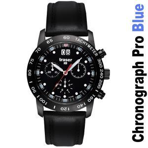 Traser Classic Chronograph Big Date Pro Blue mit Lederband